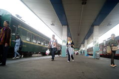 Huaihua, China: train station Royalty Free Stock Photo