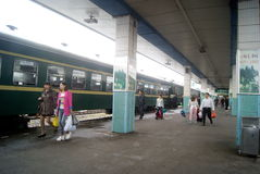 Huaihua, China: train station Stock Image