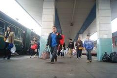 Huaihua, China: train station Royalty Free Stock Images