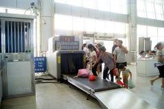 Huaihua china: train station waiting room Royalty Free Stock Photos
