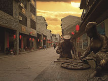 Huaiyuan Ancient Town,Guangxi,China. Huaiyuan ancient town is one of the most popular tourist attractions in Yizhou,Guangxi Province,China Royalty Free Stock Photo