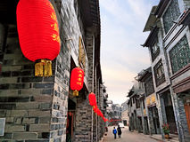 Huaiyuan Ancient Town,Guangxi,China. Huaiyuan ancient town is one of the most popular tourist attractions in Yizhou,Guangxi Province,China Stock Photos