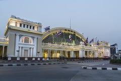 Hualampong stacja kolejowa w Bangkok obrazy stock