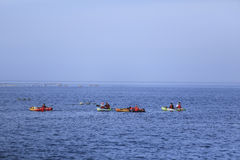 Hualien,Taiwan-June 10: Young people  playing the Canoeing on th Stock Photo