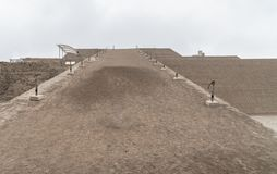 Huallamarca, the inca pyramid in Lima`s Huaca, Peru royalty free stock photos