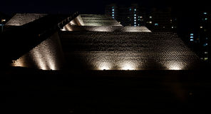 Huallamarca Pyramid at night Royalty Free Stock Photo