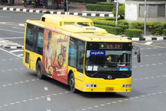 29 Hualumpong - carro do ônibus de Rangsit da universidade de Thammasat Fotos de Stock
