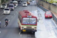29 Hualumpong - coche del autobús de Rangsit de la universidad de Thammasat Imagen de archivo