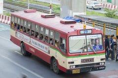 29 Hualumpong - coche del autobús de Rangsit de la universidad de Thammasat Foto de archivo libre de regalías