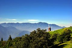 He huan Mountain. Taiwan He Huan Mountain with a windmill there Stock Photography