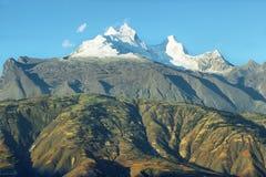 Huandoy峰顶,秘鲁 库存图片
