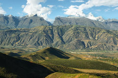 Huandoy峰顶,秘鲁 免版税图库摄影