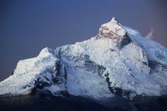 Huandoy峰顶 库存图片