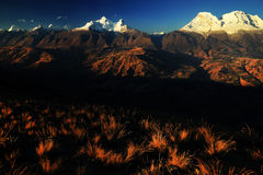Huandoy nå en höjdpunkt Royaltyfri Bild