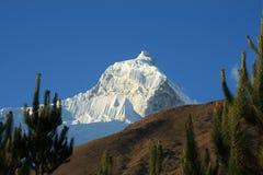 Huandoy południe, Cordillera Blanca, Peru Fotografia Stock