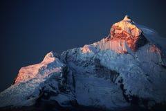 Huandoy szczyty Zdjęcie Royalty Free