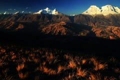 Huandoy szczyty Obraz Royalty Free
