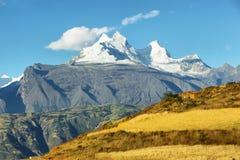 Huandoy szczyty, Peru Obraz Stock