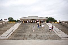 Huang Di Mausoleum. Is the ancestor of Xuanyuan Huang Di, the ancestor of the Chinese nation. It is located on the bridge hill 0.5 kilometers north of Huangling royalty free stock images