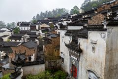 Huang ling village in Wuyuan, Jiangxi, China royalty free stock photo