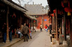 Huang Long Xi, China: Ancient Wooden Houses Stock Photo