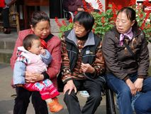 Huang Long Xi, China: Three Women with Baby Royalty Free Stock Images