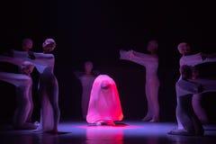 "Inoculation-man in a set-Huang Mingliang`s dance""No shelter"". Huang Mingliang`s dance""No shelter"",Young dancers from Jiangxi royalty free stock photo"