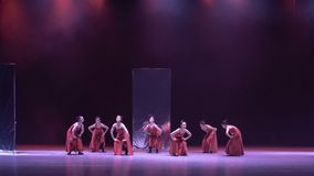 """Collective lost-Mirror curtain-Huang Mingliang`s dance""""No shelter"""". Huang Mingliang`s dance""""No shelter"""",Young dancers from Jiangxi royalty free stock photos"""
