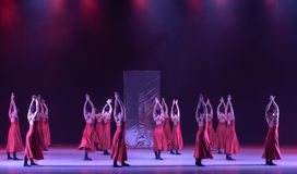 """Collective lost-Mirror curtain-Huang Mingliang`s dance""""No shelter"""". Huang Mingliang`s dance""""No shelter"""",Young dancers from Jiangxi royalty free stock images"""