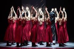 "Group sink-Mirror curtain-Huang Mingliang`s dance""No shelter"". Huang Mingliang`s dance""No shelter"",Young dancers from Jiangxi stock photography"