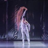 "Waving away-Huang Mingliang`s dance""No shelter"". Huang Mingliang`s dance""No shelter"",Young dancers from Jiangxi Institute of science stock image"