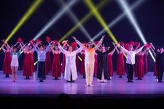 "Curtain call-Huang Mingliang`s dance""No shelter"". Huang Mingliang`s dance""No shelter"",Young dancers from Jiangxi Institute of stock photos"
