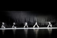 """Seek survival in the seam-man in a set-Huang Mingliang`s dance""""No shelter"""". Huang Mingliang`s dance""""No shelter"""",Young dancers from stock image"""