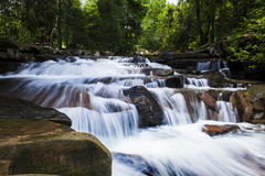 HUANG NUM KEAW WATERFALL KOH KOOD  TRAT THAILAND. Royalty Free Stock Photos
