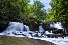 HUANG NUM KEAW WATERFALL KOH KOOD  TRAT THAILAND. Beautiful waterfalls, HUANG NUM KEAW WATERFALL KOH KOOD TRAT  THAILAND Stock Photo