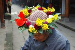Huang por muito tempo Xi, China: Grinalda floral imagem de stock royalty free