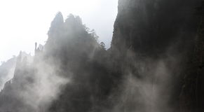 Huang Shan Mountain in the cloud sea Royalty Free Stock Image