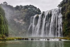 Huangguoshu siklawa w Guizhou prowinci w Chiny Zdjęcia Stock