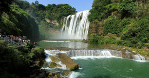 Huangguoshu Waterfall. Located in Guizhou Province, China, Huangguoshu Waterfall is one of the most famous waterfalls in China. Everyday, thousands of people Stock Photo