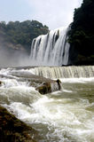 HuangGuoShu waterfall. Asia's largest Huangguoshu Waterfall stock photos