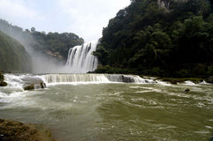 HuangGuoShu waterfall. Asia's largest Huangguoshu Waterfall royalty free stock images