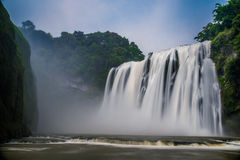 Huangguoshu waterfall. The largest waterfall, is one of the famous falls in the world. Is famous for its and the waters prevailed. Waterfall height is 77.8 Stock Image