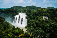 Huangguoshu waterfall. The largest waterfall, is one of the famous falls in the world. Is famous for its and the waters prevailed. Waterfall height is 77.8 Royalty Free Stock Photos