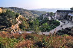 Huanghe qikou old village Stock Photography