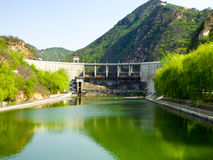 Huanghuacheng Great Wall Reservoir dam Royalty Free Stock Photos