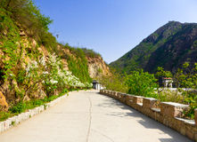 Huanghuacheng Great Wall road Stock Images