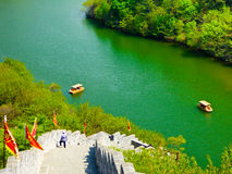 Huanghuacheng Great Wall Sightseeing Boats. In the water in Beijing China on a sunny day Stock Photography