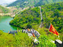 Huanghuacheng Great Wall view. Huanghuacheng Great Wall beautiful view in Bejing China on a sunny day royalty free stock image