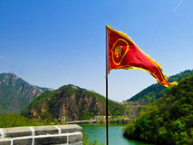 Huanghuacheng Lakeside Great Wall section Royalty Free Stock Image