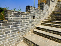 Huanghuacheng Lakeside Great Wall section. Huanghuacheng Lakeside Great Wall one section stairs on the mountain in Beijing China on a sunny day Stock Photo